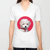 valentine V-neck T-shirts featuring Valentine by Herzensdinge