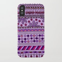 Yzor pattern 001 pink iPhone Case