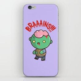 Zombie Kawaii   BRAAAINS!!!! BRAINS!! Halloween iPhone Skin