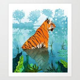 Tiger Creek Art Print