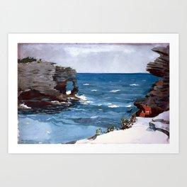 Rocky Shore, Bermuda Art Print