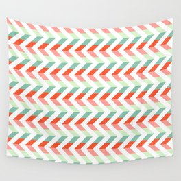 Chevron Raspberry and Peach - Geometric pattern  Wall Tapestry