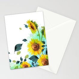 watercolor Sunflower Stationery Cards