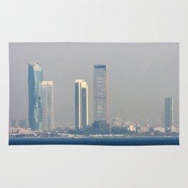 Skyscrapers in the skyline of Izmir (Turkey) Rug