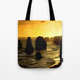 Sunset over the Twelve Apostles - Australia Tote Bag