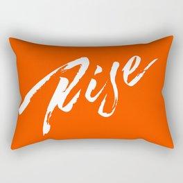 A Rebellious Rise - White Rectangular Pillow