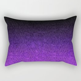 Purple & Black Glitter Gradient Rectangular Pillow