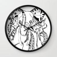ganesh Wall Clocks featuring Ganesh by Luis Viteri