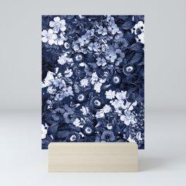 Bohemian Floral Nights in Navy Mini Art Print
