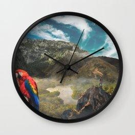 Colombian Paradise Wall Clock