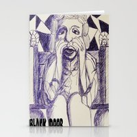prince Stationery Cards featuring Prince by black door