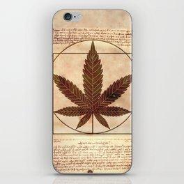 vitruvian marijuana iPhone Skin