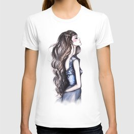 Long Locks // Fashion Illustration T-shirt