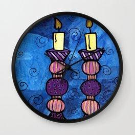 Shabbat Candles Wall Clock