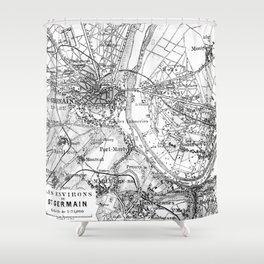 Vintage Paris Map Shower Curtain