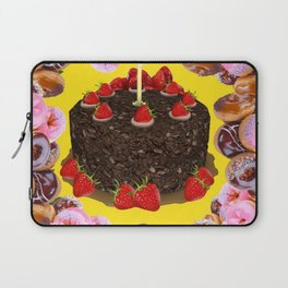 PINK FROSTED DONUTS BIRTHDAY PARTY Laptop Sleeve