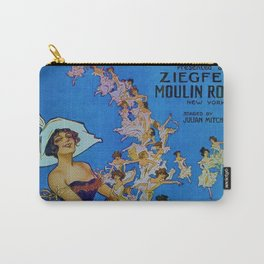 Vintage 1924 Ziegfeld Follies Moulin Stage Theater Advertisement Poster Carry-All Pouch