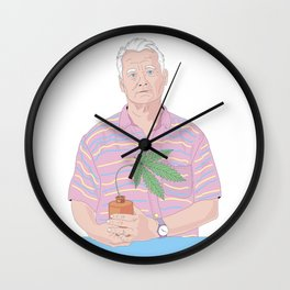 Bill Murray holding a pot Wall Clock