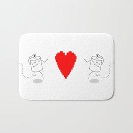GIRL AND GIRL ROBOT LOVE Bath Mat