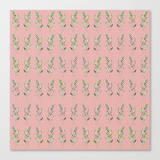 Nature repetition pink Canvas Print