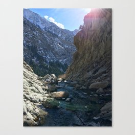 Wasatch Waterfall Canvas Print