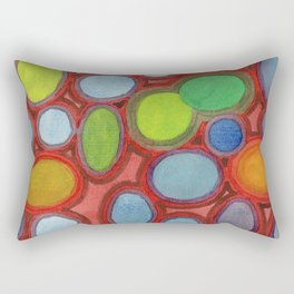 Abstract Moving Round Shapes Pattern Rectangular Pillow