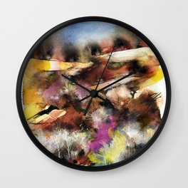 Abstract Tuscan Landscape Wall Clock