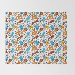 Crazy Animals Throw Blanket