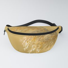 Nature Travel Photography. Landscape in Europe Photo Print. Golden Natural Pampas Plumes Fanny Pack