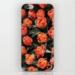 Tulips on fire iPhone Skin