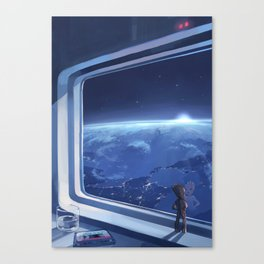 usual morning Canvas Print