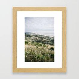 .coast line Framed Art Print