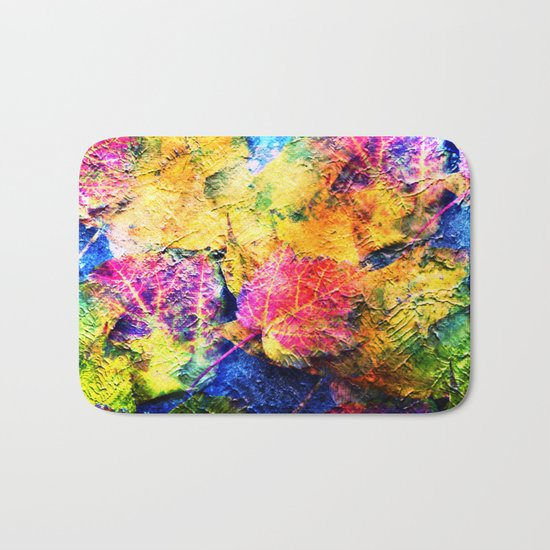 Fall Leave Abstract Bath Mat