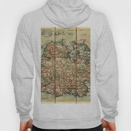 Map Of Antigua 1779 Hoody