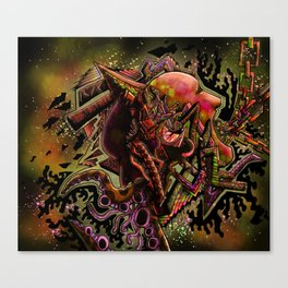 Bi-polar (psychedelic) Canvas Print