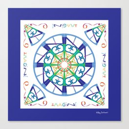 Imagine from the Inside - White/Blue Canvas Print