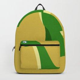 Lustiges Dino Apatosaurus Motiv - witziger grüner Saurier Backpack