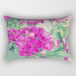 Get Well   Beautiful Rose Like Flowers Rectangular Pillow
