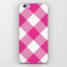 Gingham - Pink iPhone Skin