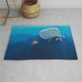 The little sperm whale and the fish Rug