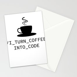 Coffee Programmer Coden nerdy Geek joke gift Stationery Cards