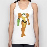 metroid Tank Tops featuring Metroid - Minimalist by Adrian Mentus