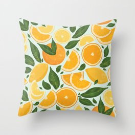 Summery Citrus Mood / Mint Splash Throw Pillow
