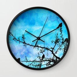 Robin's Egg Blue Wall Clock
