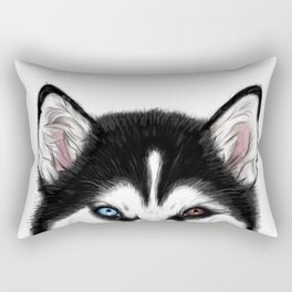 Husky different eyes Rectangular Pillow