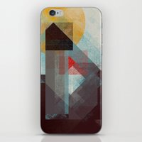 mountains iPhone & iPod Skins featuring Over mountains by Efi Tolia