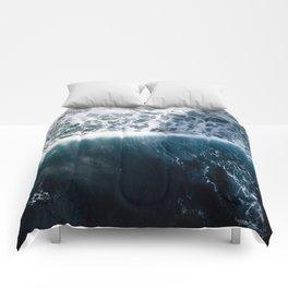 Sun Wave in the Atlantic Ocean - Seascapes Comforters
