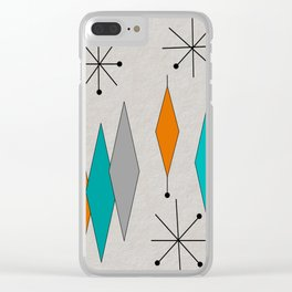 Mid-Century Modern Diamond Pattern Clear iPhone Case