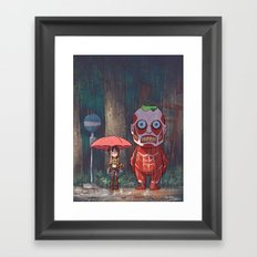 My Neighbor Titan Framed Art Print