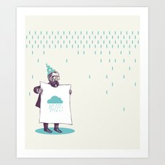 It's raining. Art Print
